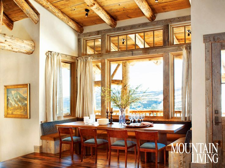 montana kitchen: Kitchens, Dining Rooms, Dining Area, Bench Seats, Breakfast Nooks, Diningroom, Mountain Home, Dining Nooks, Mountain House