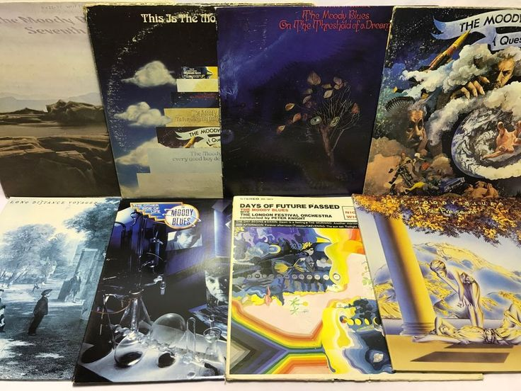 The Moody Blues Vinyl Record Lot: Days of Future Passed   The Present