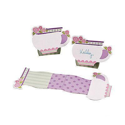 12 Tea Party Tea Cup Place Cards