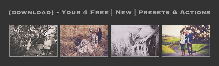 4 Free Photoshop Actions