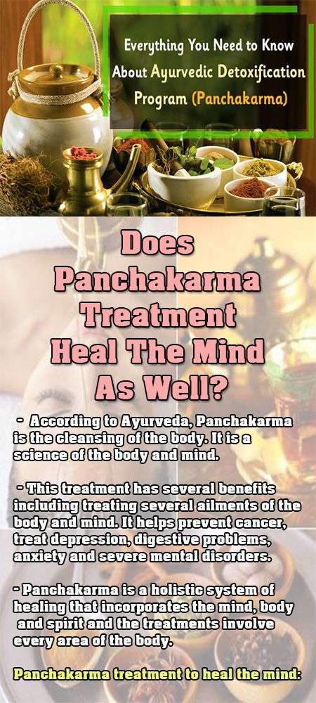Does Panchakarma Treatment Heal The Mind As Well?  According to Ayurveda, Panchakarma is the cleansing of the body. It is a science of the body and mind.