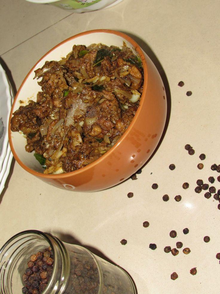 cookingcrest - non veg: Mutton pepper fry | Mutton milagu varuval (Simple ...