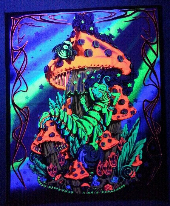 Hey, I found this really awesome Etsy listing at https://www.etsy.com/listing/252808180/magic-mushrooms-caterpillar-blacklight