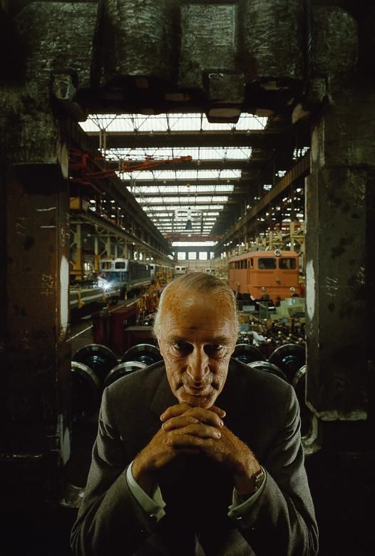 Arnold Newman Alfred Krupp, Essen, Germany, 1963 retrato ambientado