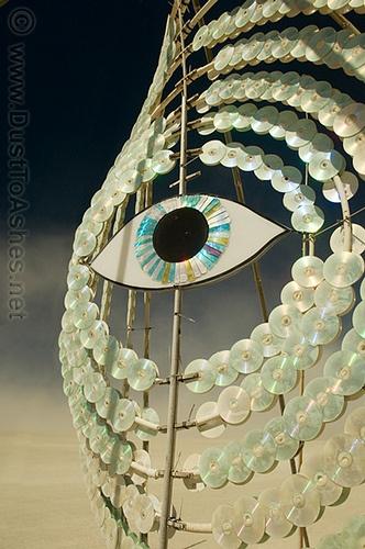 Burning Man 2006 Eye Reflection burningman
