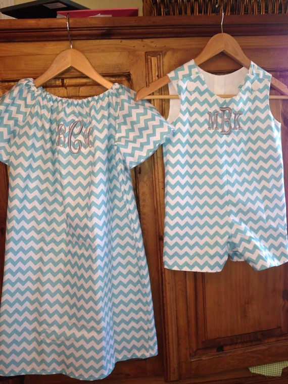 Brother sister matching chevron outfits by gigibabies on Etsy,love this idea for Easter, but not a fan of chevron on boys!
