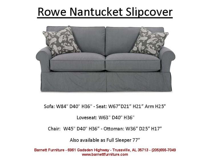 White Leather Sofa Rowe Nantucket Slipcover Sofa Cushion You Choose the Fabric