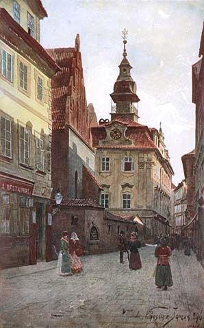Old-New Synagogue and Jewish Town Hall (Vaclav Jansa 1896)
