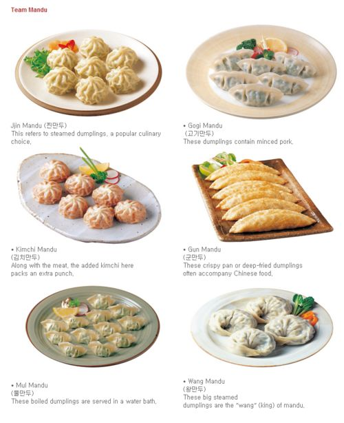 South korean, Mandu, Korean food