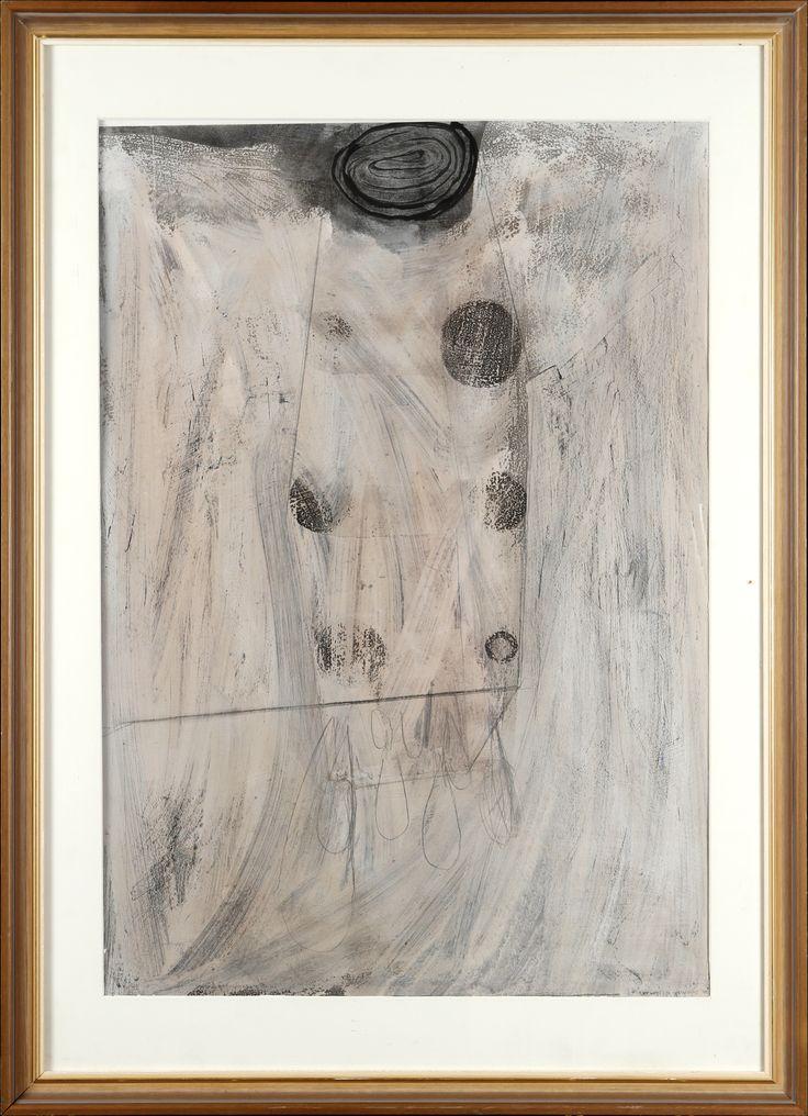 Jan-Kenneth Weckman, sekatekniikka, 88x62 cm - Hagelstam A124
