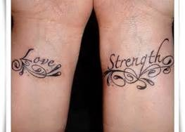 Love and strength #tattoos