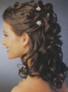 Mother Of The Bride Hairstyles Partial Updo | Wedding partial updo hairstyles pictures 1