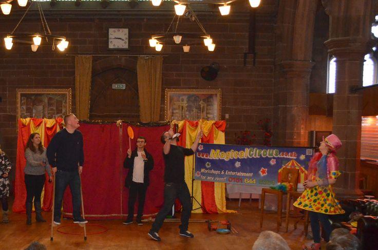 Circus skills performance by Belmond Northern Belle UK!