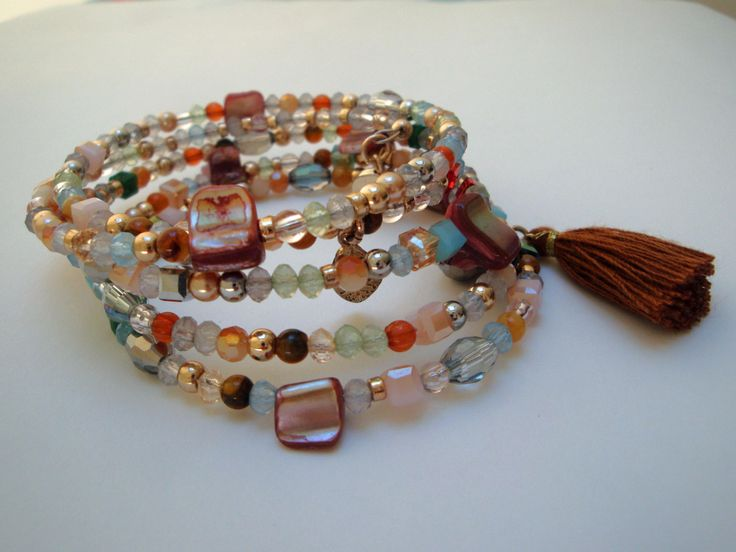 Memory Wire Stackable Bracelet by Cocopopia on Etsy