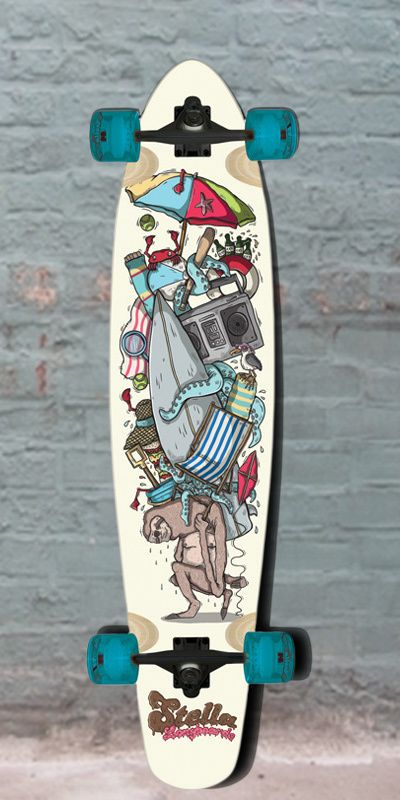 "Longboards USA - Longboard Stella Kicktail Sloth 42"" - Complete, $112.00 (http://longboardsusa.com/longboards/cruiser-longboards-riding-style/longboard-stella-kicktail-sloth-42-complete/)"