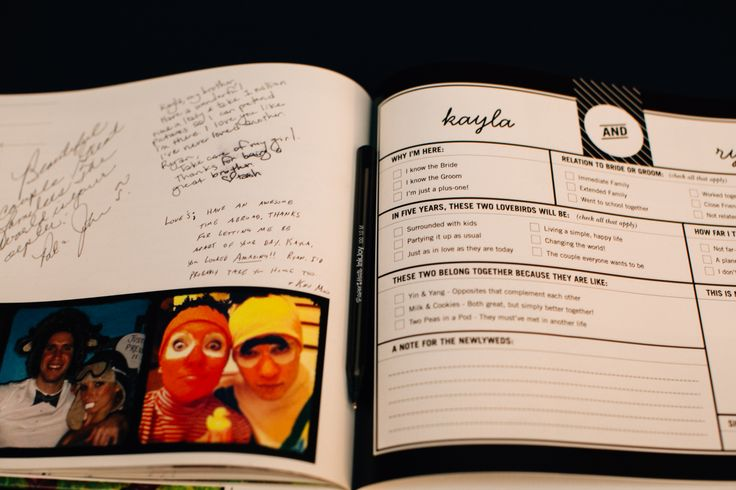 Guestbook via Shutterfly - personal and fun