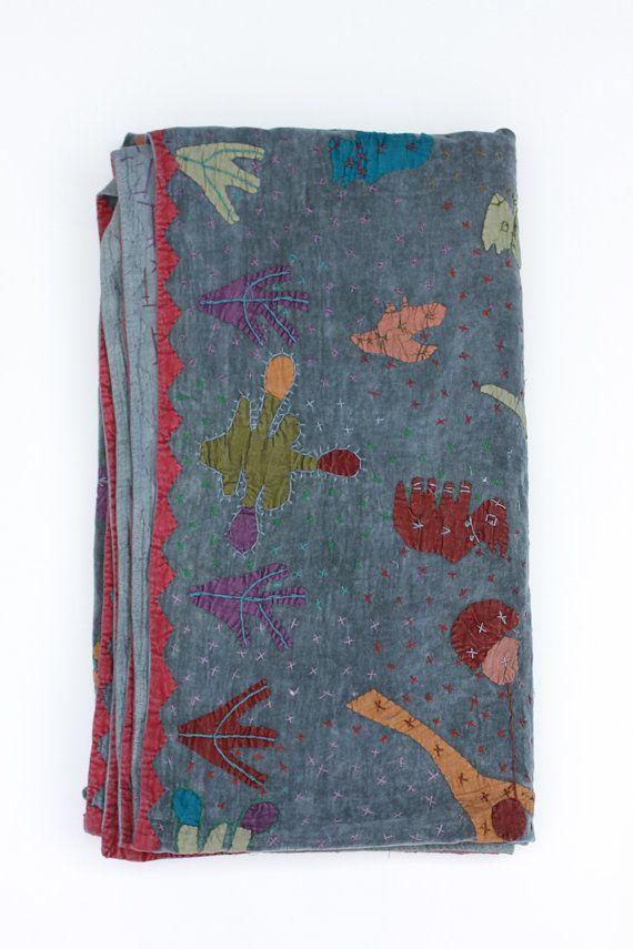 Baby Blanket in Blue Velvet by gypsya on Etsy