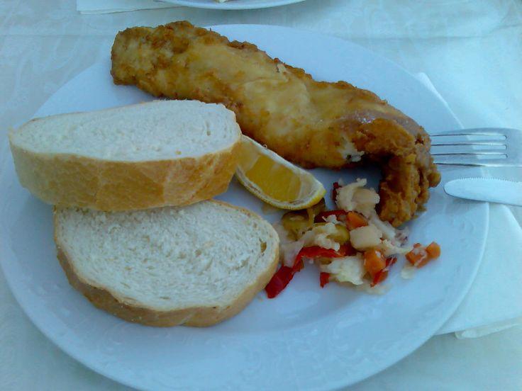 Freshly made fish in Makarska, Croatia.
