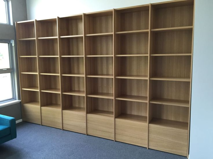 Custom Office Bookcase. Office fit outs using your choice materials and built to your size. Drop us a line and have a chat!