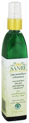 SanRe Organic Skinfood - Cucumber Cleanse - USDA Made with Organic Facial Purifying Cleanser For Dry to Combination Skin by SanRe Organic Skinfood. $27.99. 4 oz (120 ml). Organic Cucumber & Aloe Vera Facial Cleanser. Cleans, Refreshes & Hydrates. For Dry to Combination Skin. USDA MADE WITH ORGANIC. USDA MADE WITH ORGANIC <> Cucumber & Aloe Vera Facial Cleanser <> Cleans, Refreshes & Hydrates <> For Dry to Combination Skin <> 4 oz (120 ml)