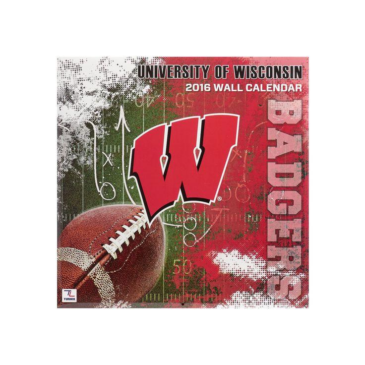 "Turner Wisconsin Badgers 2016 12"" x 12"" Wall Calendar, Multicolor"