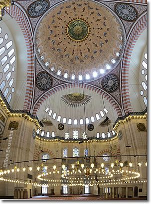 ARCHITECTURE- Suleymaniye Mosque, Istanbul, http://www.turkeytravelplanner.com/go/Istanbul/Sights/Beyazit/Suleymaniye.html, accessed 11/24/2013.  A model of the dome style of mosque architecture, inspired by the Hagia Sophia.