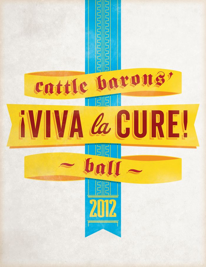 American Cancer Society: Cattle Barons' Ball poster design