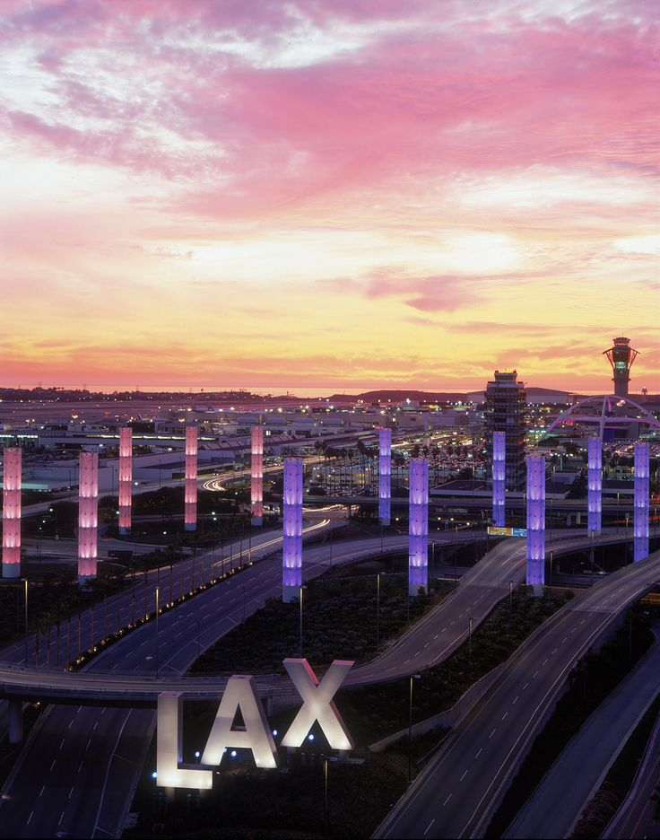 Los Angeles Airport (LAX), California - I gotta drive out of that somehow next week!  Eeeep!!!