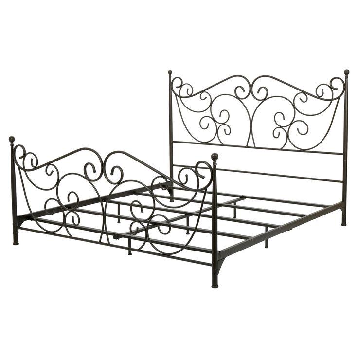 lorelei queen metal bed frame dark bronze christopher knight home