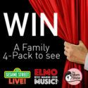 "Win Tickets to Sesame Street Live! from the Mom Show  Win a Family 4-Pack to see Sesame Street Live! ""Elmo Makes Music"" on January 28th & 29th at the State Theatre!  Click here to enter"