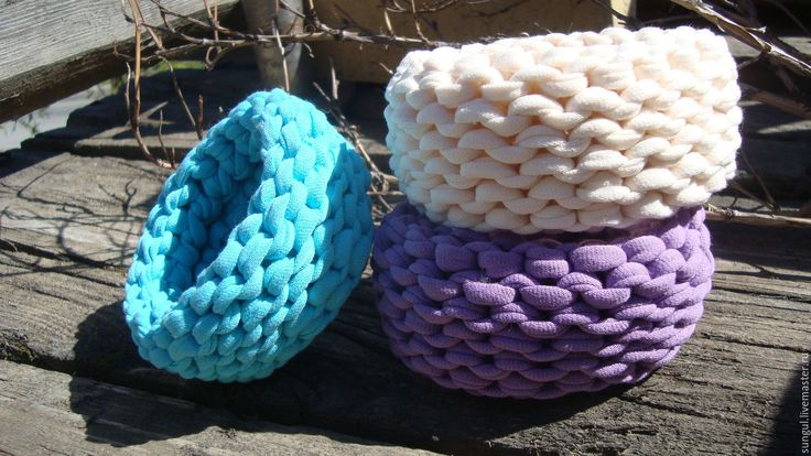 Купить Браслеты из трикотажной пряжи - бирюзовый, бралет, ручная работа, подарок при покупке, фиолетовый