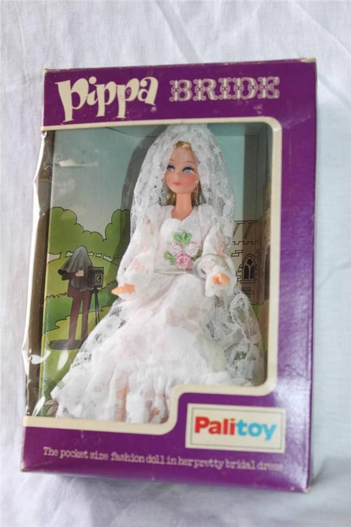 Vintage Boxed Palitoy Pippa doll Mint Condition Never played with Bride | eBay