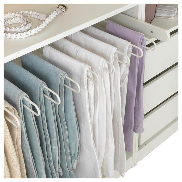 Komplement Percha Pantalon Extraible Blanco Ikea Diseno De Armario Diseno De Armario Para Dormitorio Closet De Pared