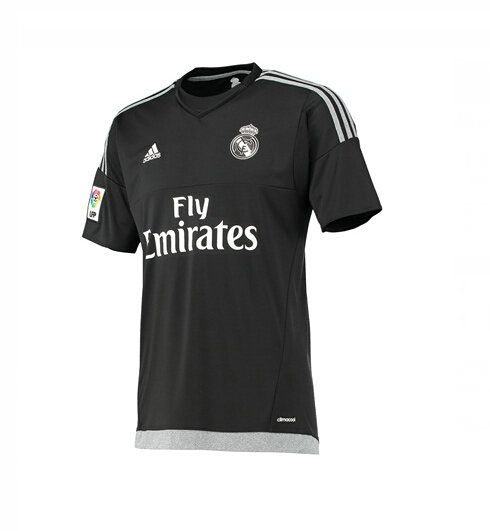Maillot de foot Real Madrid Domicile Gardien de But 2015/2016 Noir