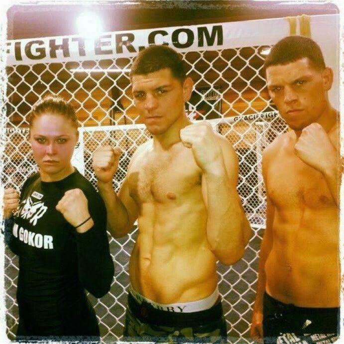 Ronda Rousey, Nick Diaz, & Nate Diaz.
