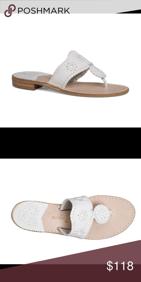 💥JACK ROGERS ALERT💥Palm Beach Sandals size 6.5 BRAND NEW‼️ Jack Rogers Palm Beach Sandals 6.5.   They run like a size 6. Jack Rogers Shoes Sandals