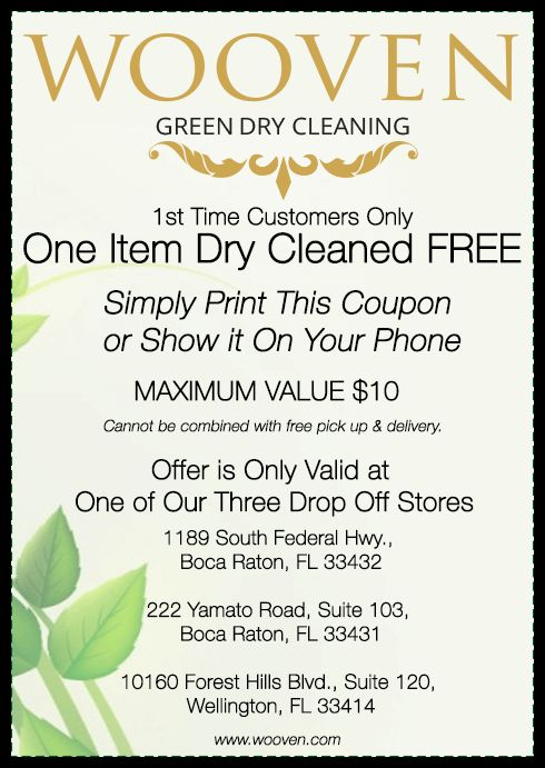 Boca Raton Dry Cleaning Coupon | Wooven