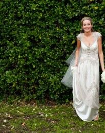 (pic 2 of 5) Sabine Wedding dress by Gwendolynne.  http://gwendolynne.com.au/our-brides/ -   Image by:   - Image by: Goldsmith & Co.