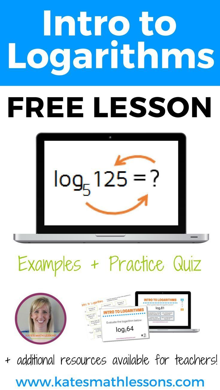 Intro to Logarithms | Fun Algebra Ideas | Learn math online, Math