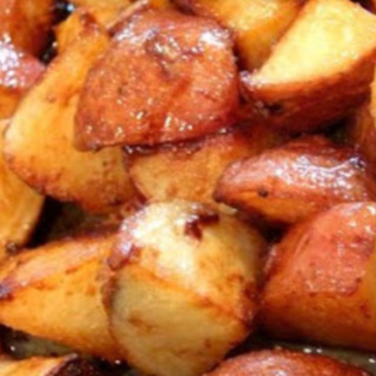 Honey Roasted Red Potatoes. We love these, they are our favorites!