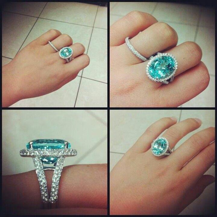 paraiba tourmaline ring wedding engagement rings