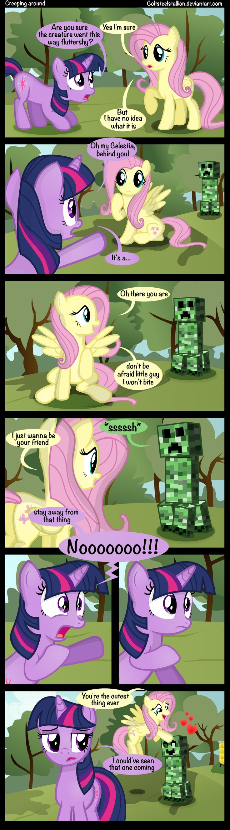 Gravity Falls Feet Porn Pony Comics - Creeping around. by *Coltsteelstallion on deviantART I love this! it is mlp  and minecraft