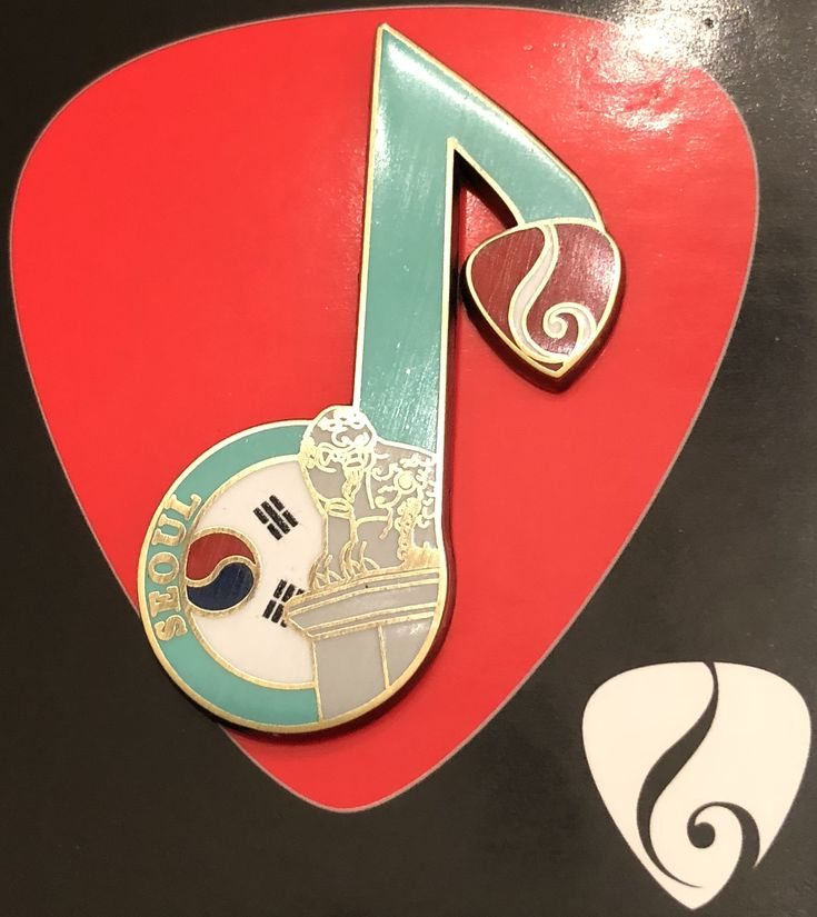 Hard Rock Cafe Seoul Heals Music Note Pin.