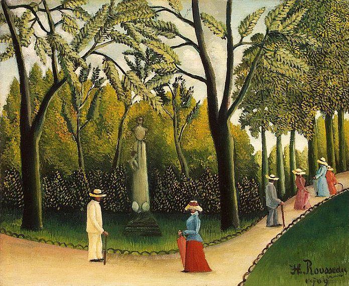 Monument a chopin dans le jardin du luxembourg 1909 by for Le jardin henri vinay