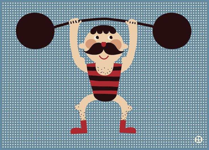 #Poster sterke #circus man 50x70 Bora from http://www.kidsdinge.com   https://www.facebook.com/pages/kidsdingecom-Origineel-speelgoed-hebbedingen-voor-hippe-kids/160122710686387?sk=wall     http://instagram.com/kidsdinge
