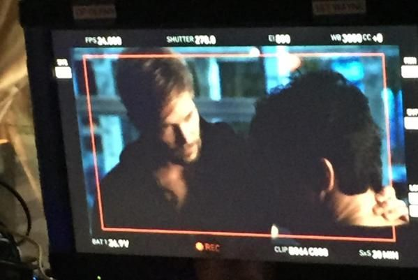 Via Jon Cor's (Hodge) website: posted a photo of a scene between Alec and Hodge. Not sure what episode this is or when the shot was taken only stated it was some days ago.
