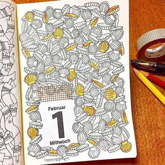 32/365  #ゼンタングル #イラスト #mdノートダイアリー  #マスキングテープ #zentangle #zendoodle #doodle #doodles #drawing #illustration #pattern #art #design #signo #mdnote  #mdnotediary #journal #diary #planner #maskingtape #washitape #マドレーヌ #madeleine