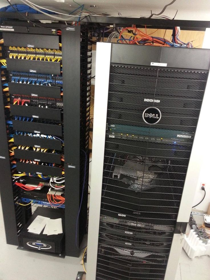 Separate Server And Short Depth Network Racks Data