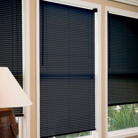 radiance 1 inch vinyl mini blind black