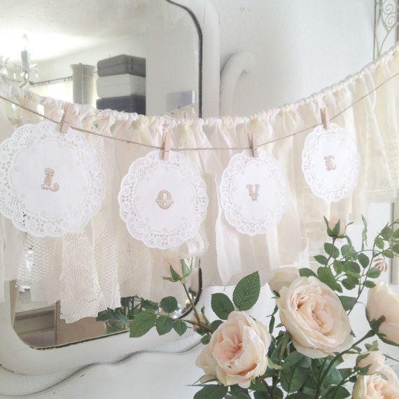 DIY Paper Doily Wedding Garland Rustic By DenaDanielleDesigns
